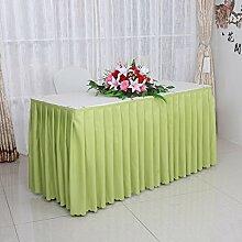 L&Y Bankett-Tischdecke, Konferenztischdecke, Hotel Tischdecke, casual dining runden Tischdecke, Größe: 180 * 45 * 75cm ( Farbe : Grün )