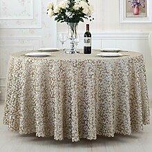 L&Y Continental Hotel Tischdecke Restaurant Tischdecken runde Tischdecken Tischdecken Tapeten Europäische minimalistischer Textur Kaffee Tischtuch Tisch Röcke runder Tisch Durchmesser 180CM-340cm Mischgewebe ( Farbe : F , größe : Diameter 340 )