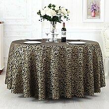 L&Y Continental Hotel Tischdecke Restaurant Tischdecken runde Tischdecken Tischdecken Tapeten Europäische minimalistischer Textur Kaffee Tischtuch Tisch Röcke runder Tisch Durchmesser 180CM-340cm Mischgewebe ( Farbe : C , größe : Diameter 260 )
