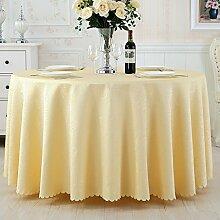 L&Y Continental Hotel Tischdecke Restaurant Tischdecken runde Tischdecken Tischdecken Tapeten europäische minimalistische Textur runder Tisch Tisch Röcke aus synthetischen Stoffen Durchmesser 180CM-280CM ( Farbe : C , größe : Diameter 220 )