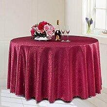 L&Y Continental Hotel Tischdecke Restaurant Tischdecken runde Tischdecken Tischdecken Tapeten europäische minimalistische Textur runder Tisch Tisch Röcken Mischgewebe Durchmesser 200CM-320CM ( Farbe : F , größe : Diameter 240CM )