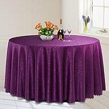 L&Y Continental Hotel Tischdecke Restaurant Tischdecken runde Tischdecken Tischdecken Tapeten europäische minimalistische Textur runder Tisch Tisch Röcken Mischgewebe Durchmesser 200CM-320CM ( Farbe : D , größe : Diameter 260CM )