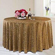 L&Y Continental Hotel Tischdecke Restaurant Tischdecken runde Tischdecken Tischdecken Tapeten europäische minimalistische Textur runder Tisch Tisch Röcken Mischgewebe Durchmesser 200CM-320CM ( Farbe : E , größe : Diameter 220CM )