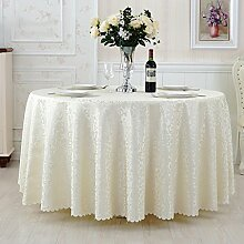 L&Y Continental Hotel Tischdecke Restaurant Tischdecken runde Tischdecken Tischdecken Tapeten Europäische minimalistischer Textur Kaffee Tischtuch Tisch Röcke runder Tisch Durchmesser 180CM-340cm Mischgewebe ( Farbe : G , größe : Diameter 340 )