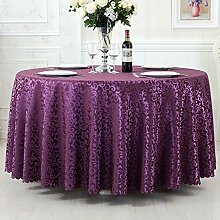 L&Y Continental Hotel Tischdecke Restaurant Tischdecken runde Tischdecken Tischdecken Tapeten Europäische minimalistischer Textur Kaffee Tischtuch Tisch Röcke runder Tisch Durchmesser 180CM-340cm Mischgewebe ( Farbe : D , größe : Diameter 260 )