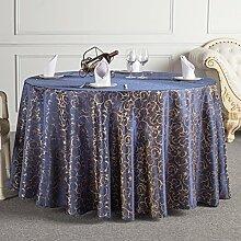 L&Y Das Hotelrestaurant Tischdecken runden Tischdecken Tischdecken Tischrundtischtuch Tischdecken Tisch Röcke umweltfreundliche Faserdurchmesser 160cm-340cm Prägeverfahren ( Farbe : A , größe : Diameter 320 )