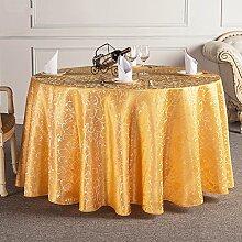L&Y Das Hotelrestaurant Tischdecken runden Tischdecken Tischdecken Tischrundtischtuch Tischdecken Tisch Röcke umweltfreundliche Faserdurchmesser 160cm-340cm Prägeverfahren ( Farbe : C , größe : Diameter 180 )