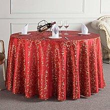 L&Y Das Hotelrestaurant Tischdecken runden Tischdecken Tischdecken Tischrundtischtuch Tischdecken Tisch Röcke umweltfreundliche Faserdurchmesser 160cm-340cm Prägeverfahren ( Farbe : B , größe : Diameter 320 )