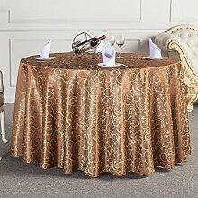 L&Y Das Hotelrestaurant Tischdecken runden Tischdecken Tischdecken Tischrundtischtuch Tischdecken Tisch Röcke umweltfreundliche Faserdurchmesser 160cm-340cm Prägeverfahren ( Farbe : E , größe : Diameter 160 )