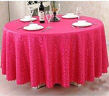 L&Y Dunkelrosa Hotel Tischdecke Party Tischdecken Runde Tischdecke Haushalt Bankett Couchtisch Treffen Europäischen Restaurant Tischdecke Tischdecken Tischdecke ( größe : D200 cm )