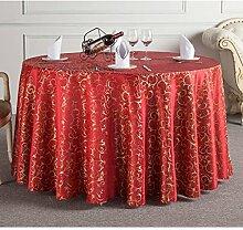 L&Y Hotel Round Table, European Restaurant Tischtuch, Polyester-Gewebe Tischdecke, Rechteck, 120 * 160CM ( Farbe : Rot )