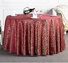 L&Y Hotel Round Table, European Restaurant Tischtuch, Polyester-Gewebe Tischdecke, Rechteck, 120 * 160CM ( Farbe : Weinrot )