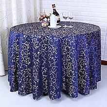 L&Y Hotel Tischdecke, Konferenz Tisch Tuch, Dicke Chemische Faser Material Tischdecke, 300CM In Durchmesser Tischdecke ( Farbe : Blau )