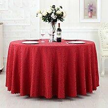 L&Y Hotel Tischdecke Red Round Tischdecke, Konferenz Bankett Tischdecke ( größe : 300CM )
