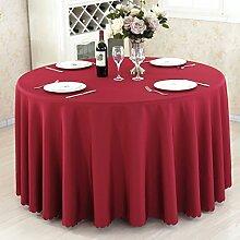 L&Y Hotel Tischdecke Restaurant Tischdecken runde Tischdecken Tischdecken Couchtisch Konferenztischtuch Tischdecken festen kreisförmiger Tischtuch Tisch Röcke umweltfreundlicher Polyesterfaser Durchmesser 140CM-280CM dicke Stoffe ( Farbe : F , größe : Diameter 180 )