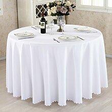 L&Y Hotel Tischdecke Restaurant Tischdecken runde Tischdecken Tischdecken Couchtisch Konferenztischtuch Tischdecken festen kreisförmiger Tischtuch Tisch Röcke umweltfreundlicher Polyesterfaser Durchmesser 140CM-280CM dicke Stoffe ( Farbe : B , größe : Diameter 160 )
