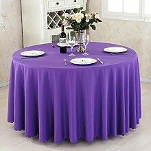 L&Y Hotel Tischdecke Restaurant Tischdecken runde Tischdecken Tischdecken Couchtisch Konferenztischtuch Tischdecken festen kreisförmiger Tischtuch Tisch Röcke umweltfreundlicher Polyesterfaser Durchmesser 140CM-300CM dicke Stoffe ( Farbe : G , größe : Diameter 280 )
