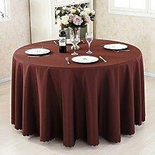 L&Y Hotel Tischdecke Restaurant Tischdecken runde Tischdecken Tischdecken Couchtisch Konferenztischtuch Tischdecken festen kreisförmiger Tischtuch Tisch Röcke umweltfreundlicher Polyesterfaser Durchmesser 140CM-280CM dicke Stoffe ( Farbe : A , größe : Diameter 260 )