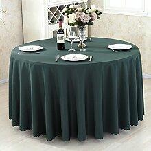 L&Y Hotel Tischdecke Restaurant Tischdecken runde Tischdecken Tischdecken Couchtisch Konferenztischtuch Tischdecken festen kreisförmiger Tischtuch Tisch Röcke umweltfreundlicher Polyesterfaser Durchmesser 140CM-300CM dicke Stoffe ( Farbe : H , größe : Diameter 160 )