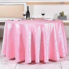 L&Y Hotel Tischdecke, Tischdecke, rund, 160cm Durchmesser Tischdecke ( Farbe : Pink )