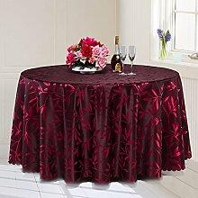 L&Y Hotel Tischdecken, Banketttischdecken, Konferenztischdecken, Tischdecken Kaffee, Hotel-Tischdecken, Durchmesser 180CM ( Farbe : Rot )