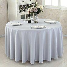 L&Y Hotel Tischdecken, Konferenztischdecken, dicke chemische Fasermaterialien Tischdecken, rund, Durchmesser 220CM ( Farbe : Grau )