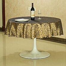L&Y Hotel Tischdecken, Primäre Casual Dining Tischdecken, Runde Tischtücher Navy Blue ( größe : 280CM )