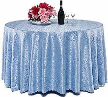 L&Y Hotel Tischdecken Restaurant Runde Tisch Tischdecke Haushalt Tischtuch ( Farbe : Blau , größe : 320CM )