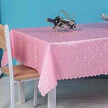 L&Y Hotel Tischdecken Rosa rechteckige Tischdecke, Konferenz Bankett Tischdecke ( größe : 140*180CM )