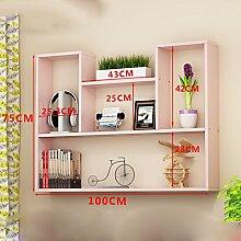 L&Y Kitchen Furniture Rack Wand Kleiderbügel Wandregal Schlafzimmer Lagerung Wand Kabinett Wandschrank Bücherregal Haushalt Hängenden Kabinett Lagerregal (Farbe : F)