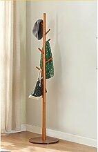 L&Y Klassische Kleiderbügel Coat Racks Massivholz Einfache Montage Kleiderbügel Landing Creative Racks ( Farbe : Braun )