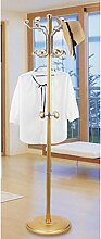 L&Y Klassische Kleiderbügel Coat Stand Rack Edelstahl Einfache Montage Hanger Landing Creative Racks ( Farbe : Gold , größe : B )