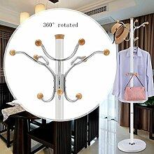 L&Y Klassische Kleiderbügel Kleiderständer aus rostfreiem Stahl einfache Montage Kleiderbügel Landung kreative Racks ( Farbe : Weiß , größe : E )