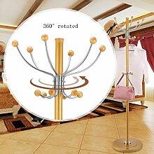L&Y Klassische Kleiderbügel Kleiderständer aus rostfreiem Stahl einfache Montage Kleiderbügel Landung kreative Racks ( Farbe : Gold , größe : C )