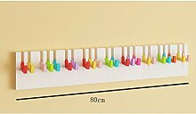 L&Y Klassische Kleiderbügel Kleiderständer Farbe Haken Wandaufhänger Kreative Wandhalterungen ( Farbe : Bunte , größe : L )