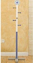 L&Y Klassische Kleiderbügel Kleiderständer Massivholz Kinderhochstuhl Hängeschränke Landing Creative Racks ( Farbe : Blau )