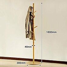 L&Y Kleiderablage Kleiderbügel aufhänger Creative Clothes Rack Einfache hölzerne Aufhänger Boden Schlafzimmer Hanging Clothes Rack ( Farbe : B )