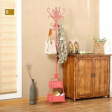 L&Y Kleiderablage Kleiderbügel aufhänger European Bedroom Coat Rack Einfache Hanger Creative Iron Einfache Wohnzimmer ( Farbe : N )
