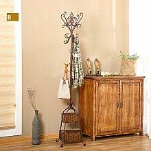 L&Y Kleiderablage Kleiderbügel aufhänger European Bedroom Coat Rack Einfache Hanger Creative Iron Einfache Wohnzimmer ( Farbe : C )