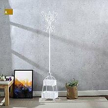 L&Y Kleiderablage Kleiderbügel aufhänger European Bedroom Coat Rack Einfache Hanger Creative Iron Einfache Wohnzimmer ( Farbe : A )