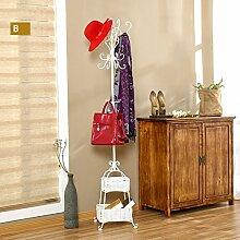 L&Y Kleiderablage Kleiderbügel aufhänger European Bedroom Coat Rack Einfache Hanger Creative Iron Einfache Wohnzimmer ( Farbe : Z )