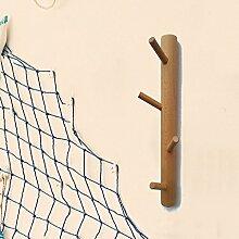 L&Y Kleiderablage Kleiderbügel aufhänger Kleiderbügel Massivholz Wände Fester Haken Wohnzimmer Schlafzimmer Tragende Starke Kleiderbügel ( größe : 4 Hooks )