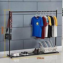 L&Y Kleiderablage Kleiderbügel aufhänger Kleiderständer Einpolige Balkone Kleiderständer Haushalt Schlafzimmer Boden Kleiderbügel Einfache Innenaufhänger Hängebügel ( Farbe : A4 )