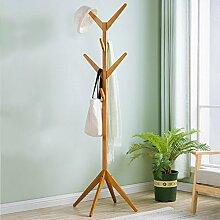L&Y Kleiderablage Kleiderbügel aufhänger Kleiderständer Massivholz Einfache Boden Aufhänger Büro Wohnzimmer Schlafzimmer Moderne Einfache Baum Kleiderständer