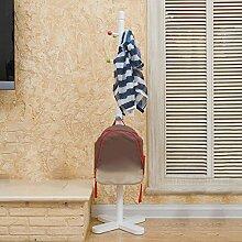 L&Y Kleiderablage Kleiderbügel aufhänger Kreatives Minimalist Kinder Kleiderständer Schlafzimmer Wohnzimmer Boden Kleiderständer ( Farbe : Weiß )