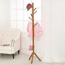 L&Y Kleiderablage Kleiderbügel aufhänger Mantel Rack Schlafzimmer Modern Simple Solid Hölzerne Hanger ( Farbe : # 5 )