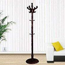 L&Y Kleiderablage Kleiderbügel aufhänger Massivholz Mantel Racks Boden Kleiderbügel Modern Simplicity Hangers European Style ( Farbe : Rot )
