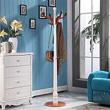 L&Y Kleiderablage Kleiderbügel aufhänger Massivholz Mantel Racks Boden Kleiderbügel Modern Simplicity Hochwertige Kleiderbügel European Style ( Farbe : Bernsteingelb )