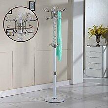 L&Y Kleiderablage Kleiderbügel aufhänger Metall Edelstahl Schlafzimmer Mantel Rack Bodenmontage Mode Kreative Rotation Innen Wohnzimmer Kleiderbügel ( Design : O )