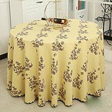 L&Y Leinen Hotel Tischdecke Tuch Mode Druck Home Pastoralen Tischdecke Runde Tischdecke Tischdecken Tischdecke ( Farbe : B , größe : D280 cm )
